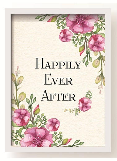 Happily Çiçek Poster-All About Wall